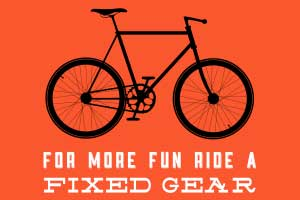 Ride a fixed gear - Poster
