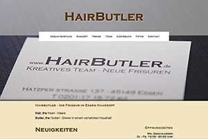 Hairbutler - Webseite (www.hairbutler.de)